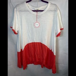 NWT UMGEE Boutique short sleeve blouse top large
